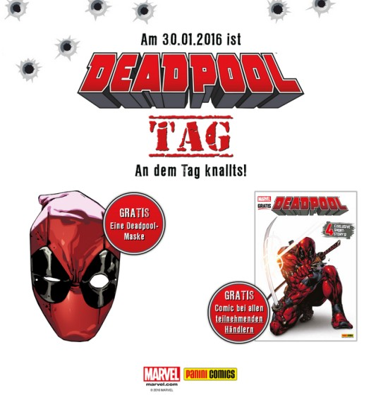 Deadpool-Tag im Bonner COMIC Laden!